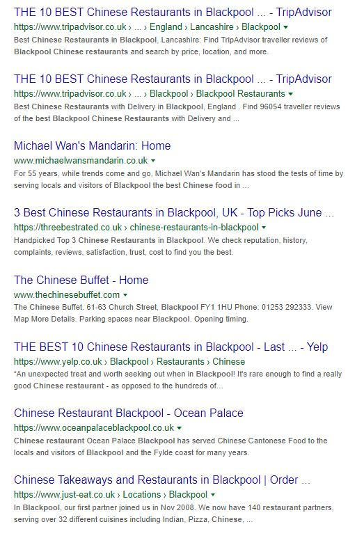 Chinese Restaurant Blackpool
