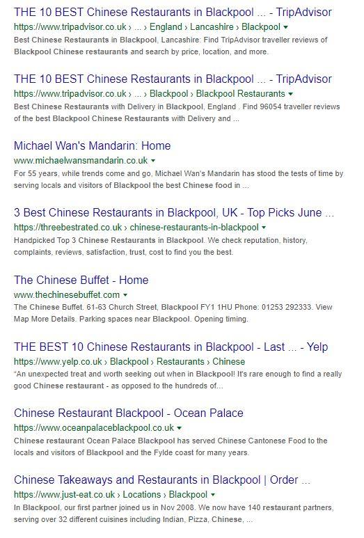 Chinese Restaurant Blackpool