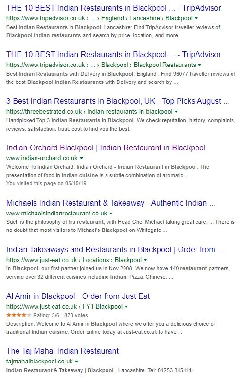 Indian Restaurant Blackpool