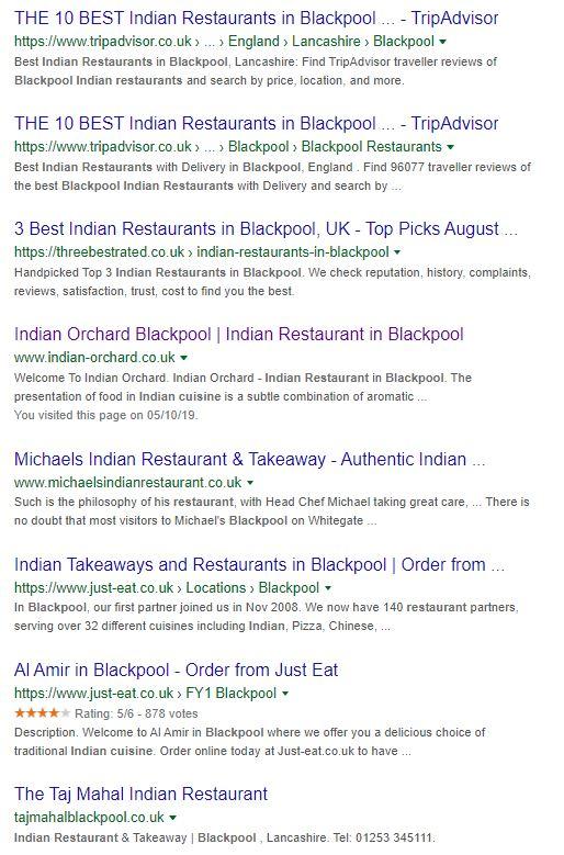Indian Restaurant Blackpool
