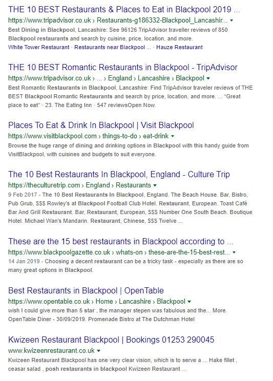 Posh Restaurants