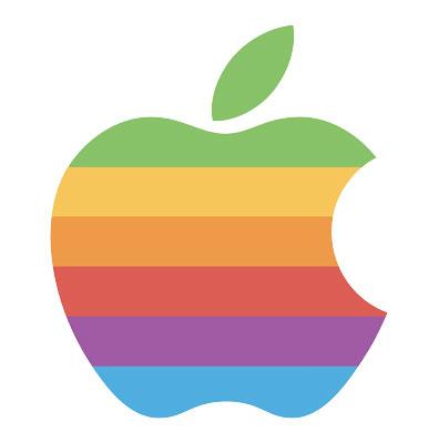 Rainbow Apple Logo, 1977-1998